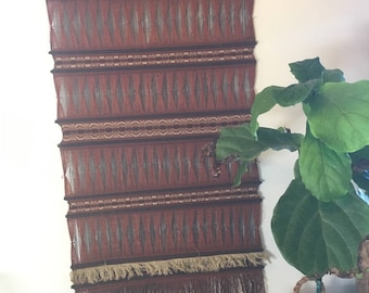 Large, Bohemian, Colombian Hand Woven Wall Hanging