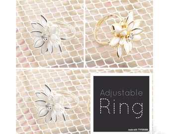 Snow Lotus Fashion Flower Ring | Lilly Rose