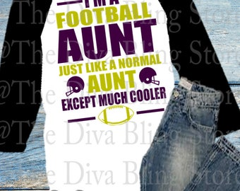 Football Aunt but Cooler  SVG File