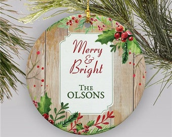 Personalized Ornament, Christmas Tree Ornament,