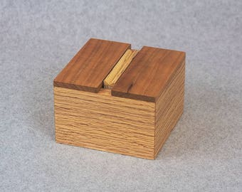 Cigarette Dispenser - Handcrafted Wooden Red Oak, Cherry and Hickory Cigarette Dispenser
