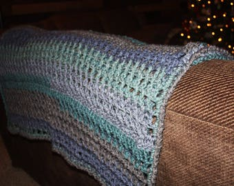 Crochet PATTERN – Cozy Caron Cake Sofa Throw / Blanket – Crochet Blanket Pattern