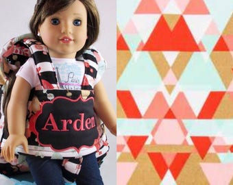 Darling and Doll Backpack in Mint Coral Geo