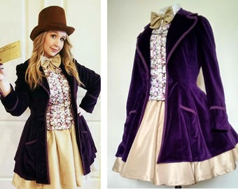 AVAILABLE FROM JANUARY 2018 Femme Willy Wonka Cosplay  - Hand Made In The U K - Payment Plans Available
