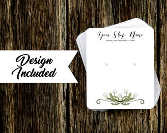 Jewelry Display Cards | Earring Cards | Necklace Cards | Dandelion