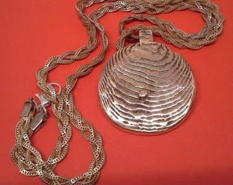 Handmade 18K gold round pendant 35 g