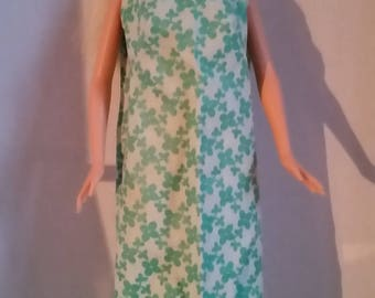 "B 026 Handmade for Barbie and other 11 1/2"" fashion dolls Simple Green Cotton Shift"