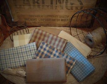 Mudpie Homespun Fabric~Primitive~Rag Quiliting~Accents~Ties~Bows~
