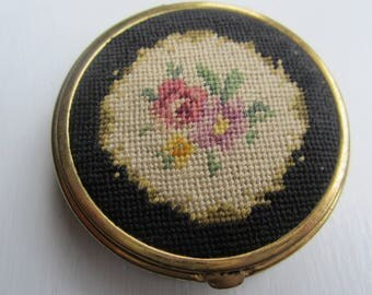 Very Old Petite Point and Mesh Compact-1920's
