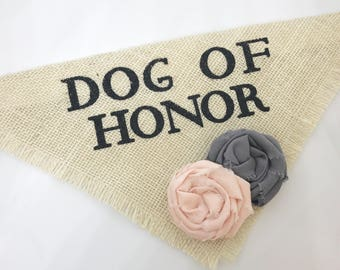 Engagement Photos Save the Date Cards Dog Bandana Dog of Honor Blush and Gray  Wedding Dog Collar Girl Wedding Accessories