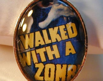 Goth 1943 I Walked With a Zombie Movie Poster Necklace