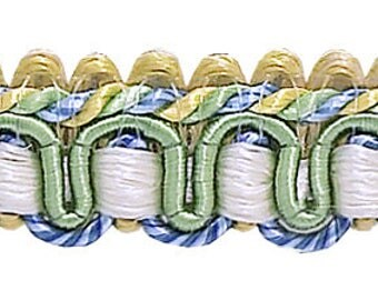 """9 Yard Value Pack of Green, Gold, Blue 1/2"""" Imperial Iigimp Braid Style# 0050ig Color: Mountain Spring - 4668 (27 Ft / 8 Meters)"""