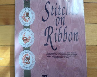Vintage 1990s Stitches on Ribbon Hummingbird Cross Stitch Craft Kit!