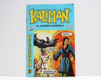 Kaliman El Hombre Increible No 53 Los Misterios de la Muralla China Revista en Español Comic RARE