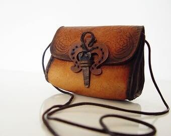 80's Boho Leather Purse.