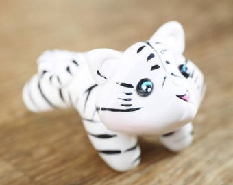 fetish decorative small white tiger