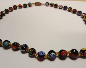 Vintage murano glass bead necklace.