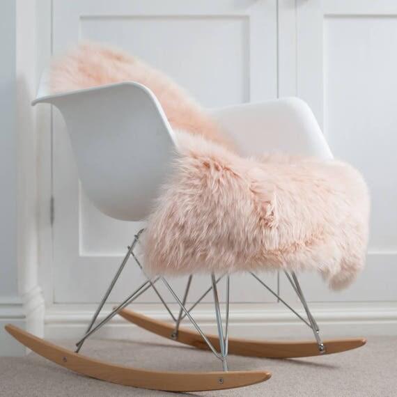 Pink Sheepskin Blush Pink Throw Pale Pink Australian Super