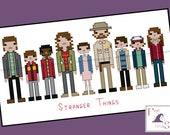 Stranger Things Themed Cross Stitch - PDF Pattern - INSTANT Download