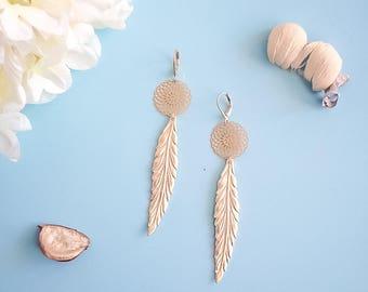 "Ethnic style ""SAHAR"" gold plated earrings"