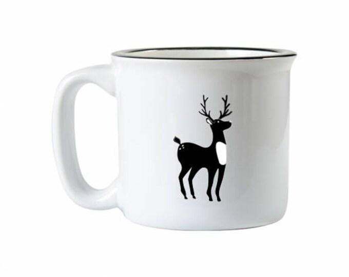 Holiday Deer Campfire Mug