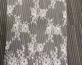 1yard fine Chantilly Lace veil ,eyelash Lace Fabric, 59 inches Wide for Veil, Dress, Costume, Craft Making,Designourlife lace