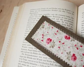 Bookmark vintage flowers