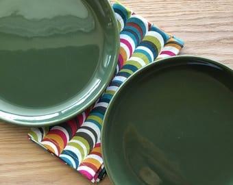 Brusche / Bauer Al Fresco dinner plate olive green