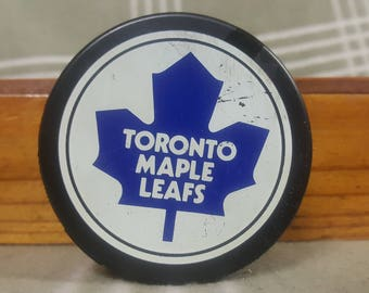1980s Toronto Maple Leafs General Tire Puck