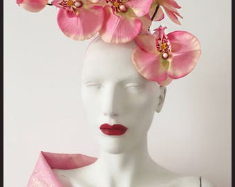 Pink Orchid Fascinator/Ascot/Wedding Ref:004