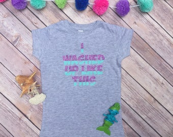 I Washed Up Like This Toddler Youth Girl's Fit Mermaid Shirt