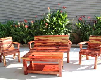 Cedar Patio Set