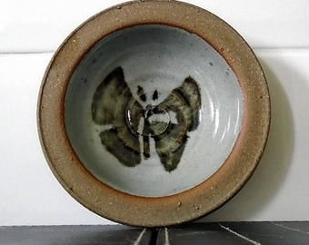 Studio Pottery Pin Dish Butterfly