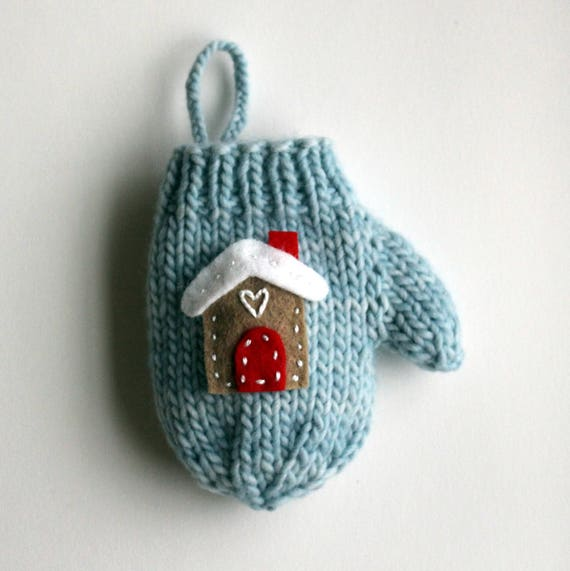 Knitting PATTERN / Mitten Christmas Ornament / Quick Knit ...