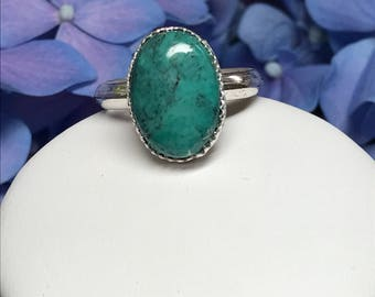 Arizona Turquoise set in Sterling Silver  size 7.25