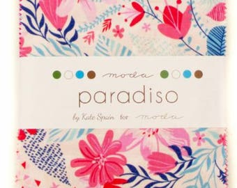 Paradiso Charm Pack, Moda, Kate Spain, Moda Precuts, Kate Spain Paradiso, Charm Pack, IN STOCK