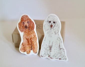Toy Poodle Brooch