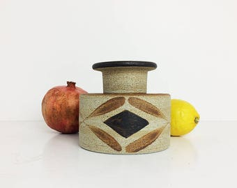 Vintage Sgrafo Vase / Peter Muller / Mid century / Studio Pottery / German pottery 60s 70s