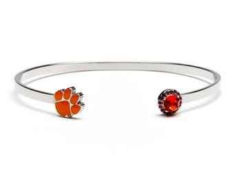 Clemson Tiger Paw Bangle Bracelet