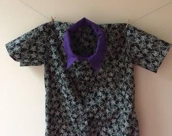 Spider web shirt, spider web print, spider gift, spider clothes, spider accessories, spider top, button down shirt, halloween shirt