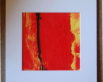 Original oil painting, minimal art 174 A reduced painting