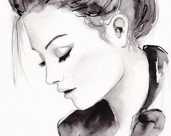 Rock Chic // Original Beauty Illustration