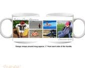 Personalized Custome Create Your Own Collage Coffee Mug & Daddy Photo Collage Travel Mug