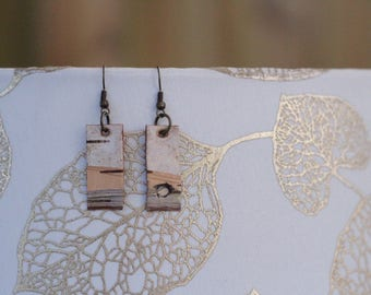 Earrings|Birch Bark|Natural Materials|Gift for Her|Rugged|Woodsy|Elegant|Handmade|Sustainably Harvested