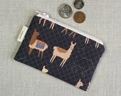 Coin Purse - Alpaca - Llama - Change Purse - Card Wallet - Gift - Card Case - Zipper Bag - Little Pouch - Tiny Travel Bag