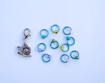 ringOs refill - Snag-Free Ring Stitch Markers for Knitting - custom made by Fripperies&Bibelots for SnailYarn