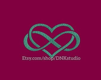 Infinity Heart Embroidery Design - 6 Sizes - INSTANT DOWNLOAD