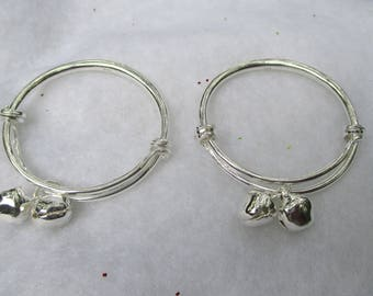 SALE**Summer Clearance**Silver Plated Hoops with Bells