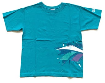 Vintage 1990's Teal Turquoise Reebok Classic  t shirt size men's medium Reebok Running Team