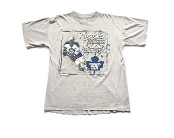 Vintage Toronto Maple Leafs NHL Hockey  t shirt the game brand short sleeve tee size medium